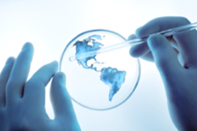 Geoengineering World in a Petri Dish