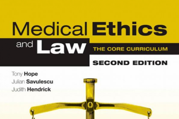 book cover medical ethics and law