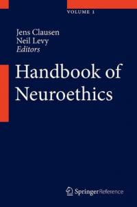 Book cover: Handbook of Neuroethics