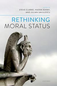 book cover rethinking moral status