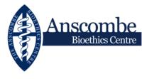Anscombe Bioethics centre logo banner